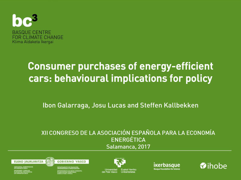 Presentation: EE Decisions & Cars. BC3 at SAEe 2017